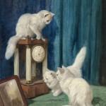 Arthur Heyer | Drei neugierige Katzen