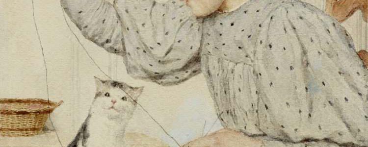 Albert Anker | Sitzendes Mädchen mit Katze, 1903
