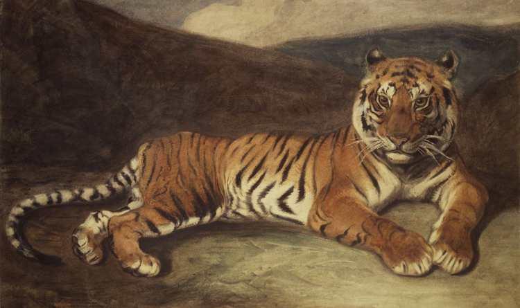 Antoine-Louis Barye | Tiger Reclining | Brooklyn Museum of Art