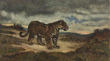 Antoine-Louis Barye | Jaguar Standing, 1830-1850 | Art Institute of Chicago