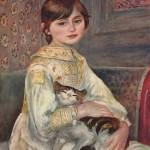Pierre-Auguste Renoir | Mademoiselle Julie Manet mit Katze, 1887 | Musée d'Orsay Paris