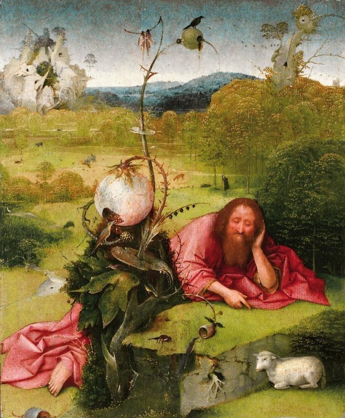 Hieronymus Bosch | Saint John the Baptist in the Desert | Fundacion Lazaro Galdiano