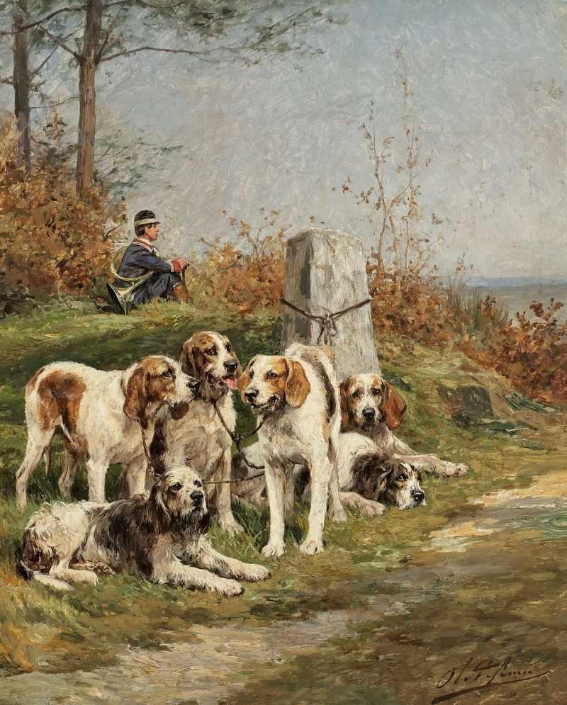 Charles-Olivier de Penne | Jagdszene im Sommer, 1897 | Privatbesitz