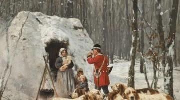 Charles-Olivier de Penne | Jagdszene im Winter, 1897 | Privatbesitz