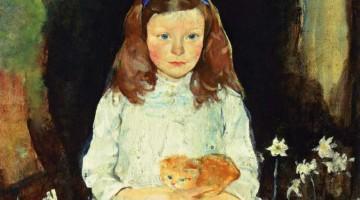Charles Webster Hawthorne | Little Dora, ca. 1915 | Privatbesitz