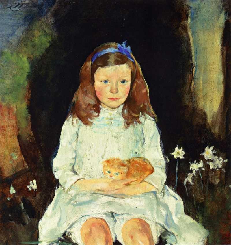 Charles Webster Hawthorne   Little Dora, ca. 1915   Privatbesitz