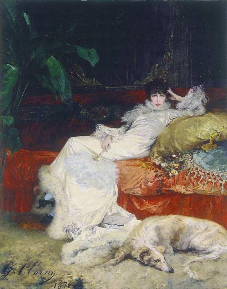 Georges Jules Victor Clairin | Sarah Bernhardt (1844-1923), 1876 | Musée du Petit Palais, Paris