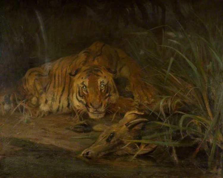 Cuthbert Edmund Swan | Tiger and Prey