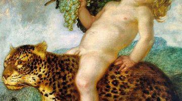 Franz von Stuck | Bacchusknabe auf einem Panther (Bacchusknabe auf einem Leoparden), um 1901 | Privatbesitz