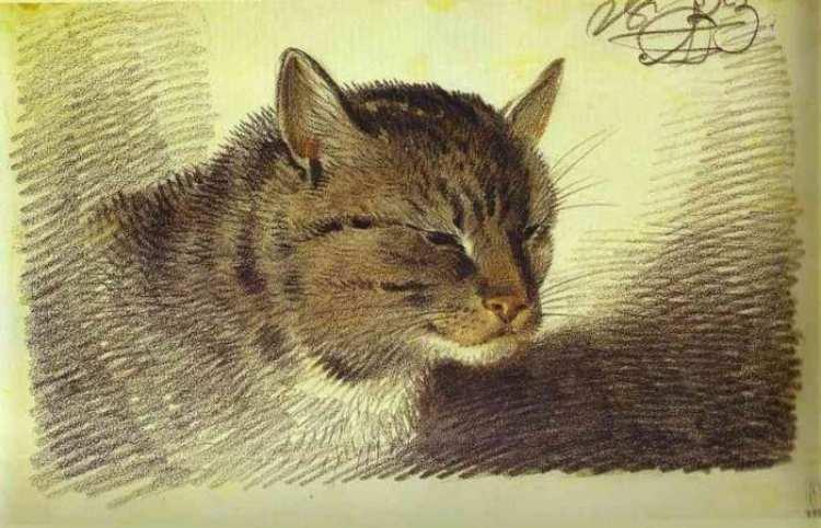 Alexander Orlowski | Head of a Cat, 1823 | Russian Museum St. Petersburg