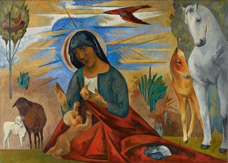 Heinrich Nauen | Madonna mit den Tieren, ca. 1931