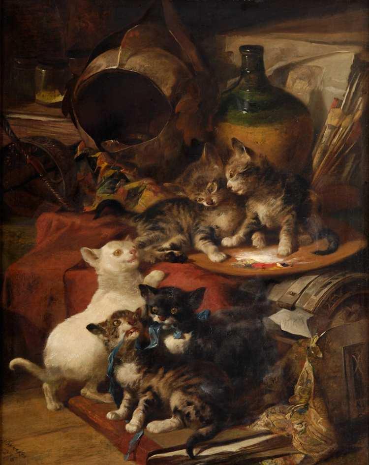 Henry Weekes | Katzenbande, 1876