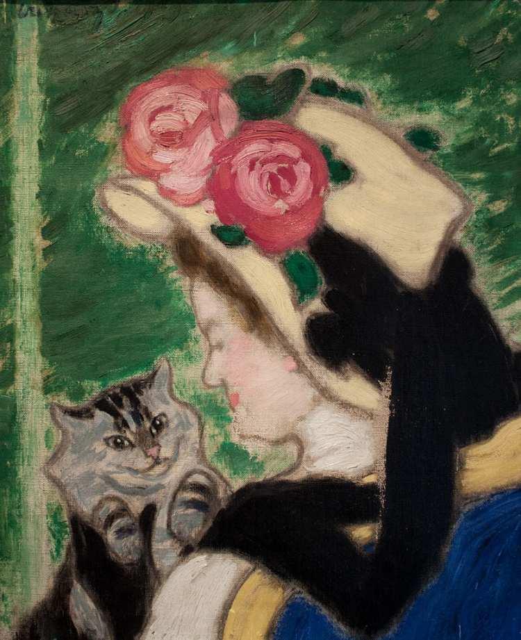 János Vaszary | Women with cat, 1909