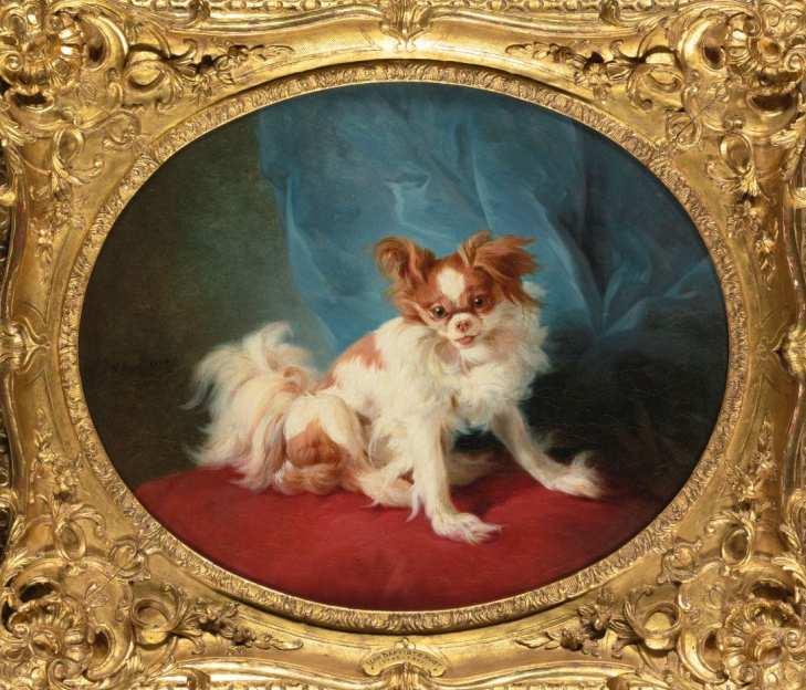 Jean-Baptiste Marie Huet | Porträt eines King Charles Spaniels, 1778