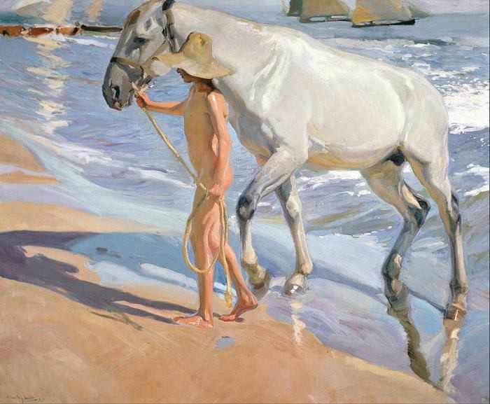 Joaquín Sorolla | The Horse's Bath, 1903 | Museo Sorolla