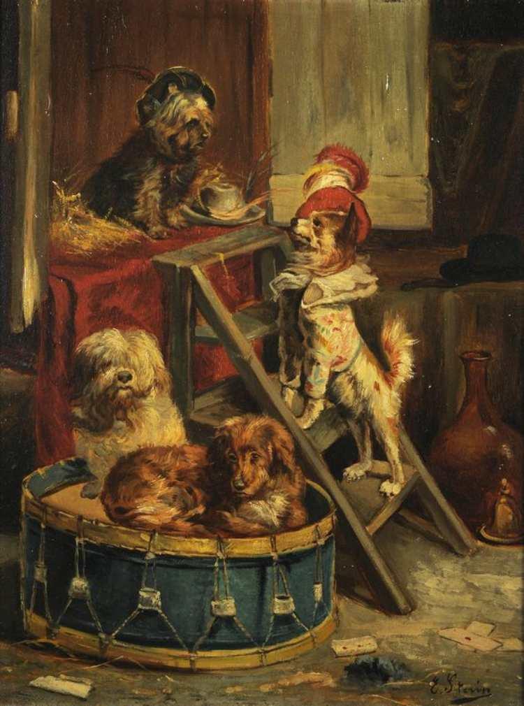 Joseph Édouard Stevens | Circus Dogs