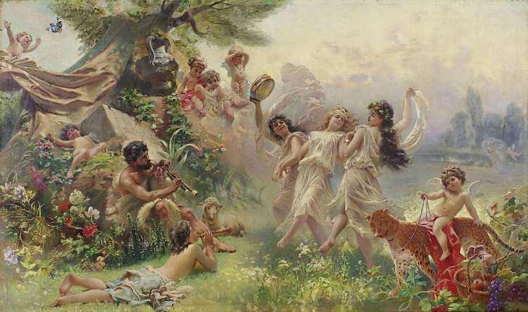 Konstantin Makovsky | Happy Arcadia, ca. 1889-1890