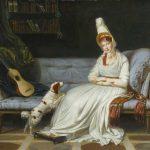 Louis Gauffier | Portrait of Elizabeth, Lady Webster, later Lady Holland, with Her Spaniel Pierrot