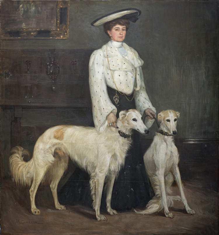 Mary Cameron   Mme Blair et ses borzois, 1904   Privatsammlung   Foto: Eion Johnston