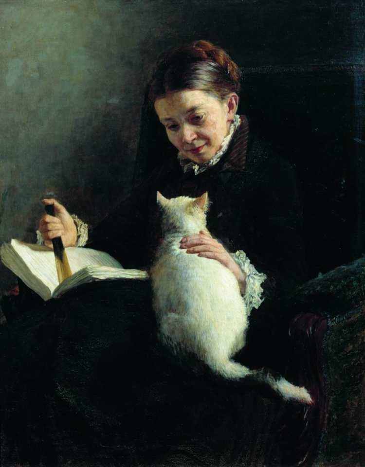 Nikolai Alexandrowitsch Jaroschenko | Frau mit Katze
