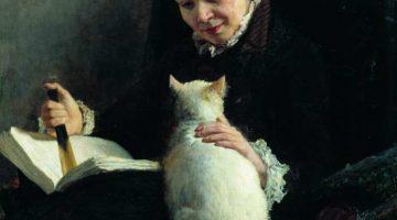 Nikolai Alexandrowitsch Jaroschenko | Frau mit Katze (Detail)