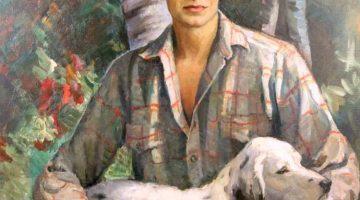 Nikolai Vasilievich Kharitonov | Hunter with a Dog, 1935 | Privatbesitz