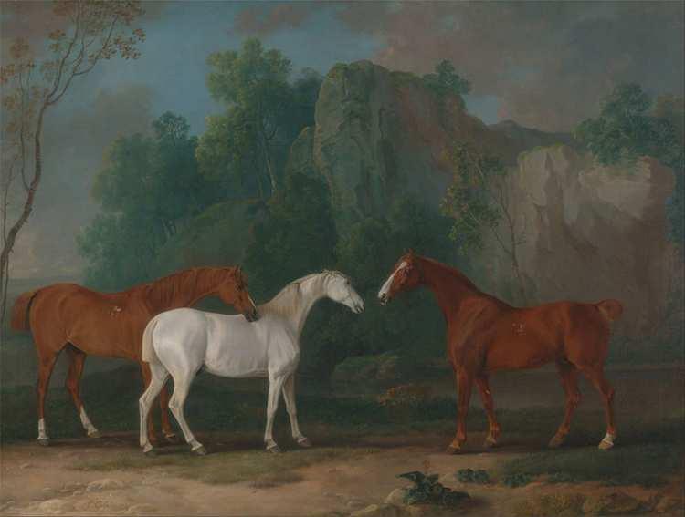 Savrey Gilpin   Three Hunters in a Rocky Landscape, 1775