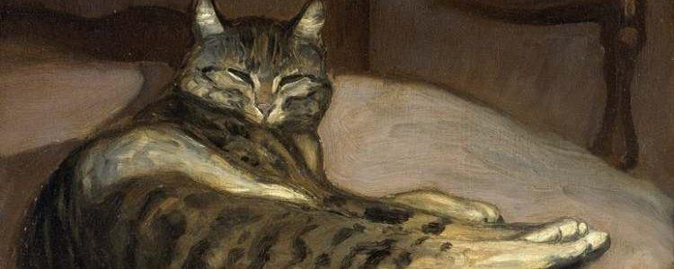 Théophile-Alexandre Steinlen | Chat sur un fauteuil