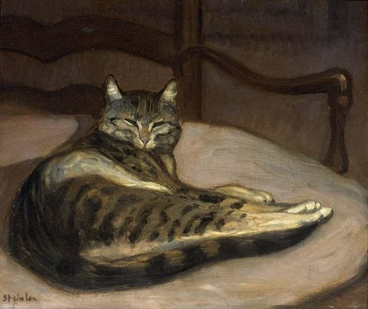 Théophile-Alexandre Steinlen | Chat sur un fauteuil, 1859