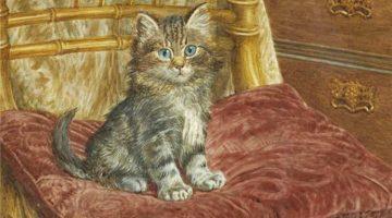 Wilson Hepple | Kätzchen auf einem Stuhl