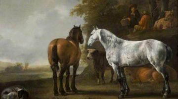 Abraham van Calraet | Horses and Cattle in a Landscape, 1680-1700 | Barber Institute of Fine Arts, Birmingham