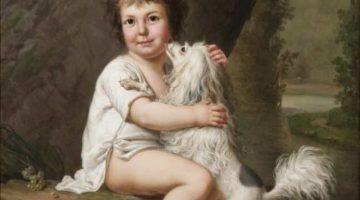 Adolf-Ulrik Wertmüller | Portrait of the young Henri Bertholet-Campan (1784-1821) with the dog Aline, 1786