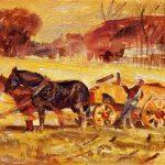 Albert Henry Krehbiel | Loading the Farm Wagon, 1918 | Privatbesitz
