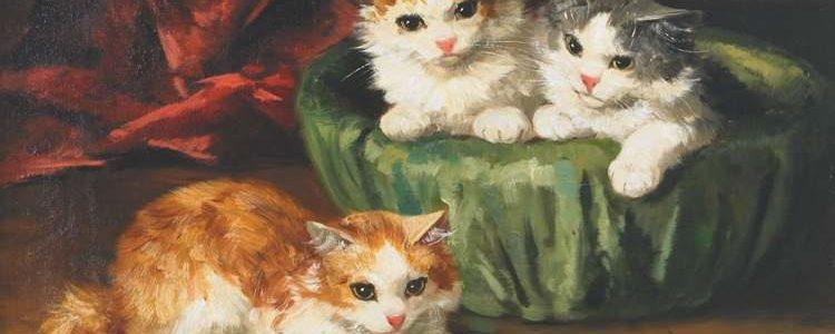 Alfred-Arthur Brunel de Neuville | Drei Kätzchen