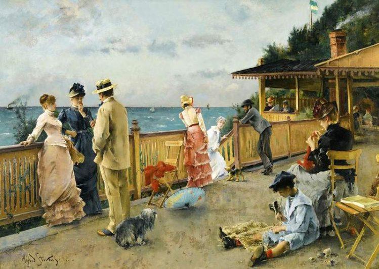 Alfred Stevens | At the Seaside, 1884