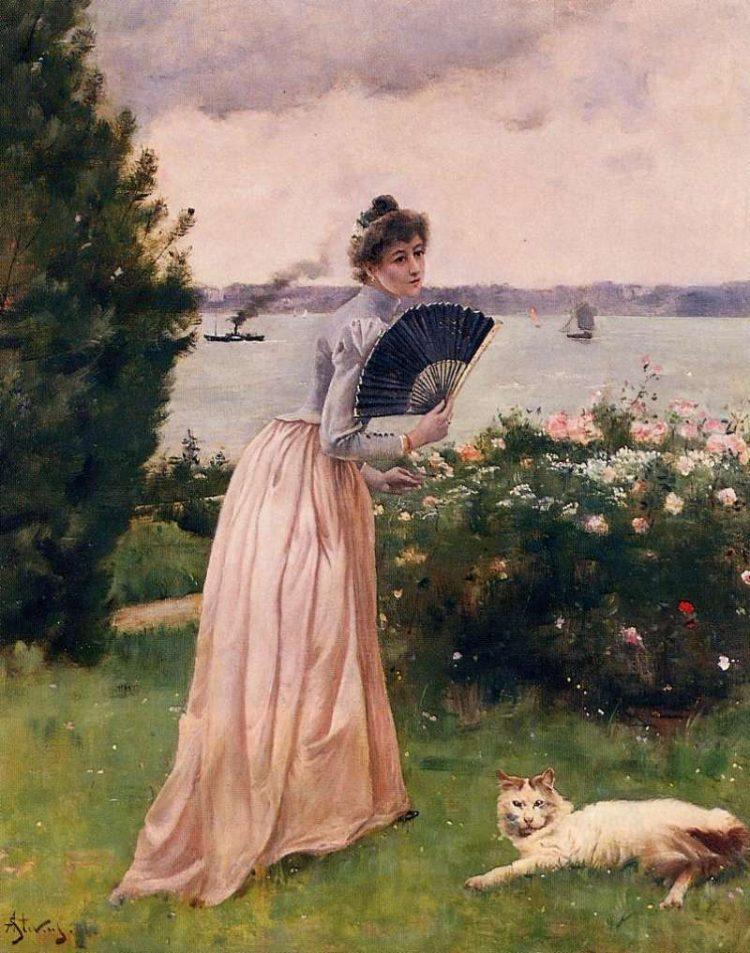 Alfred Stevens | Woman with a Fan, 1893