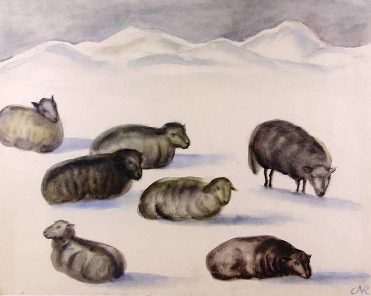 Anita Rée | Schafe im Schnee, 1932-1933