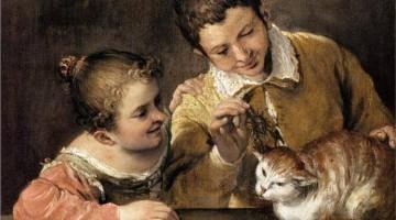 Annibale Carracci | Two Children Teasing a Cat, 1590 | Metropolitan Museum of Art, New York