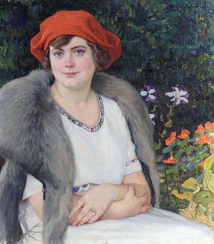 Nikolai Bogdanov-Belsky | Portrait of Artist's Wife