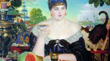 Boris Kustodiev | Die Gattin des Kaufmanns, 1918