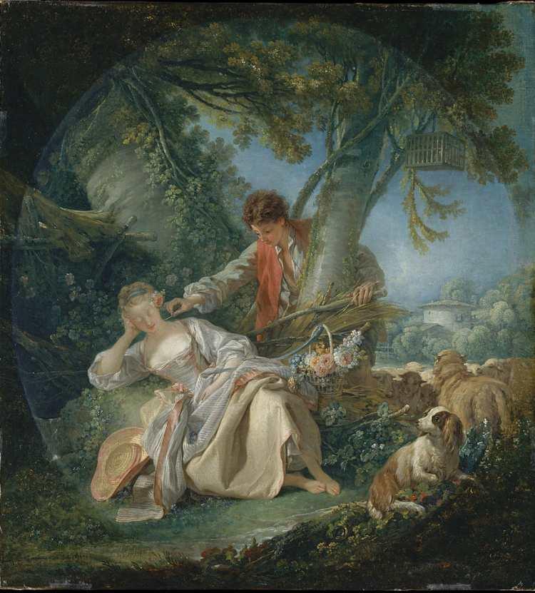 François Boucher | Der unterbrochene Schlaf, 1750