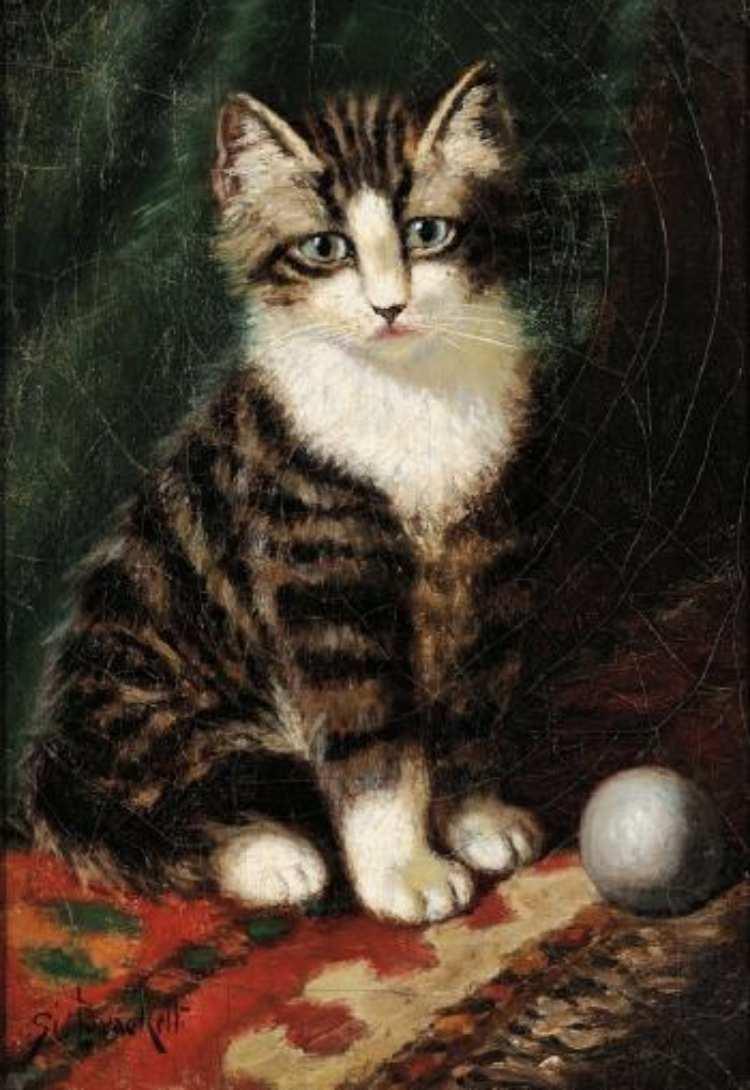 Sidney Lawrence Brackett | Getigertes Kätzchen