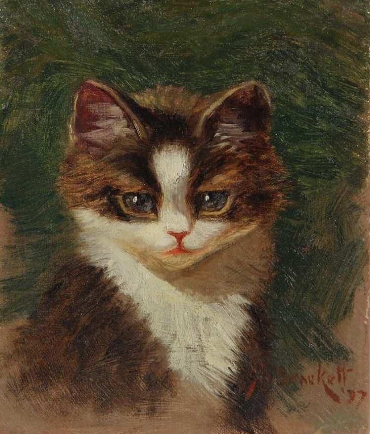 Sidney Lawrence Brackett | Porträt eines Tigerkätzchens, 1897