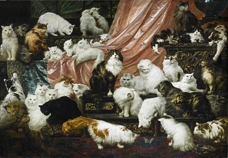 Carl Kahler, My Wife's Lovers, 1891 | 177,8 x 258,4 cm