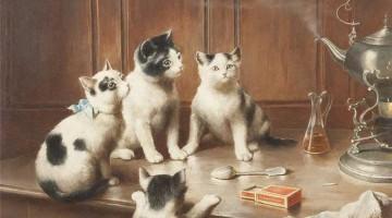 Carl Reichert | Kittens at Teatime