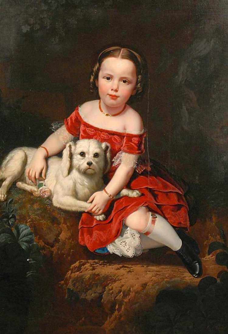 Charles Christian Nahl | Girl with Dog