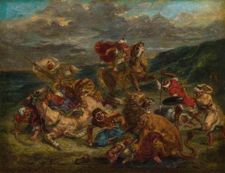 Eugène Delacroix | Lion Hunt, 1860/61
