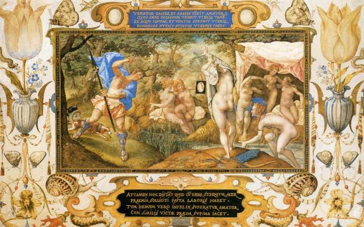 Joris Hoefnagel und Jacob Hoefnagel   Diana and Actaeon, 1597