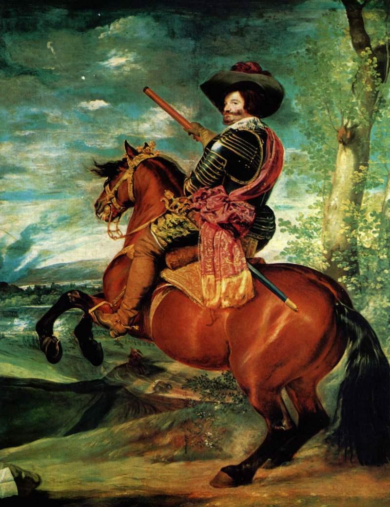 Diego Velázquez | Porträt des Gaspar de Guzmán, Herzog von Olivares zu Pferd, 1632-1633
