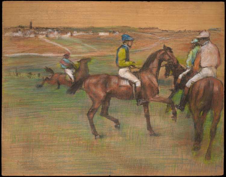 Edgar Degas | Race Horses, ca. 1885–88